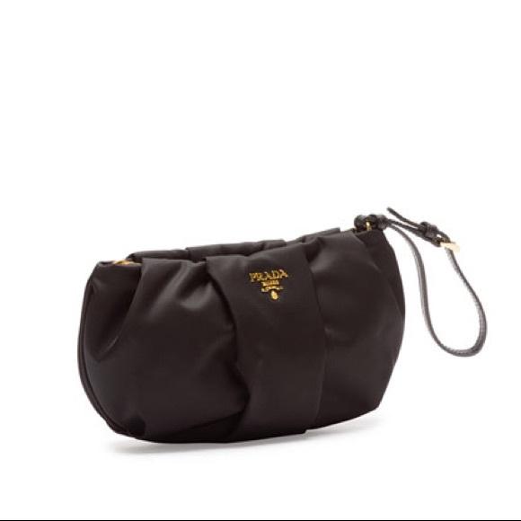 Prada Bags   Tessuto Black Wristlet Bag Nwt   Poshmark 1f61f990be